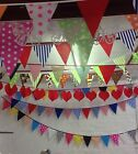 Fabric bunting By the metre PYO spot stripe floral gingham all colours available