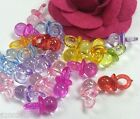 100 pcs Acrylic transparent pacifier charms mixed color c368 U PICK