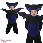 FANCY DRESS COSTUME # CHILDS HALLOWEEN BLACK / PURPLE BAT TODDLER AGE 1-4 YEARS