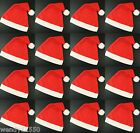 CHRISTMAS XMAS SANTA PARTY HATS WHOLESALE : MULTIPLE QUANTITIES : FANCY DRESS