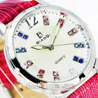 NEW 4 COLORS CUTE WATERPROOF STYLISH QUARTZ HOURS LEATHER WOMEN'S WATCHES,A2
