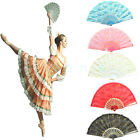 Spanish Golden Lace Flower Folding Hand Dancing Wedding Party Decor Fan 5 Color