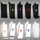 Clergy Stole Cross Embroidery for Full Length Preacher Robe $100