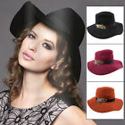 Ladies Valentine Floppy Brim Hat With Ribbon Band & Feather Fashion Accessory