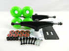 Turbo 5.0 Blk/Wht Skateboard Trucks + 52mm Wheels + ABEC 7 Bearings Riser Pads
