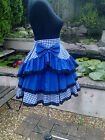 NEW STYLE STEAM PUNK COTTON LAYERED SKIRT SZ 10-26 CHOOSE COLOUR