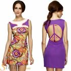 Ladies Sexy Flower Psychedelic Hippie Hippy 60s 70s Fancy Dress Costume Outfit