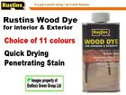 Rustins Wood Dye - Quick Drying - for interior & exterior - Colour Choice  125ml