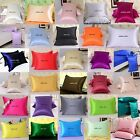 1PC 16MM 100% PURE MULBERRY SILK PILLOWCASE SHAMS SIDE ZIPPER CLOSURE ALL SIZE