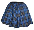 "Blue Tartan Robert Burns Night Skater Skirts 15"" Roller Derby Girl"