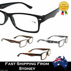 Mens Men Ladies Frame Magnifying Reading Glasses Nerd Spectacle +1.0~+3.5