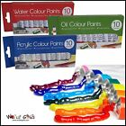 ART & CRAFT 10 x 6ml Paint Tubes ACRYLIC, OIL or WATER Colours