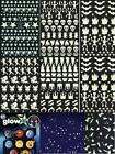 GLOW in the dark stars stickers space ships galaxy, moons planets ghosts bats