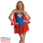 Ladies Sexy Supergirl Corset Superhero Tutu Adult Fancy Dress Costume 880558