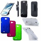 For Samsung Galaxy Note 2 N7100 Cover V2 Holster Kickstand Combo Hard Shell Case