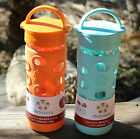Lifefactory Glass Water Beverage Bottle Silicone Sleeve PICK color 12oz US made