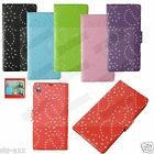 Flip Book Diamond Bling Sparkly Wallet Leather Case Cover Stand For Samsung