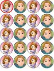 SOFIA THE FIRST AND PRINCE JAMES EDIBLE WAFER PAPER TOPPERS CUPCAKE CAKE FAIRY