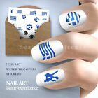 Football Flags Nail Art Nail Decals Water Transfer Stickers Greece  -049
