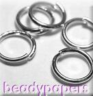 600 - 1500 Strong Round Open Jump Rings Open 4 mm Silver Colour 1 mm 4062