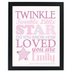 PERSONALISED WALL ART CANVAS Unique Baby Gift Idea or Memorial Keepsake Print