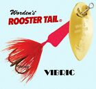 New Vibric FLUORESCENT RED Rooster Tail - Choice Hook / Size / Weight & Quantity