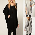 Chic Women's Batwing Sleeve Casual Over Size Blouse Tops Loose Long T-Shirt