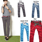 Men's Luxury Stylish Designed Straight Slim Fit Trousers Casual Long Pants  #pd