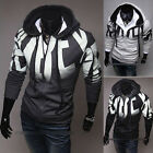 Mens Casual Letters Hoodie Hooded Sweatshirt Jumper Coat Jacket Outwear Tops-AJR