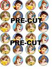 BELLE BEAUTY AND THE BEAST EDIBLE WAFER PAPER TOPPERS CUPCAKE CAKE FAIRY MUFFIN