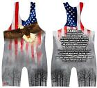 Isaiah 40 - Eagle: sublimated wrestling singlet. Youth, Boys, Kids, Men's