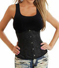 Victorian Gothic Burlesque Underbust Waist Training Cincher Corsets Basque Tops