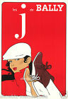 Bally print poster large 4 sizes available Villemot french shoes retro vintage
