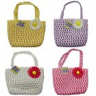 4 X Childs Wicker Easter Egg Hunt Bags Four Mixed Colours Gift Idea