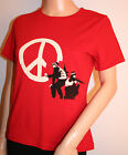Offcial women's Banksy Red CND Design T- Shirt Size 10 & 12