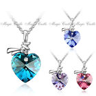 Magic Castle Swarovski Elements Heart Crytal Pendant Xmas Valentine Gift for Her