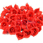 Red Silk Artificial Roses Flower Head Wedding Valentine's Day Gift Home Decor