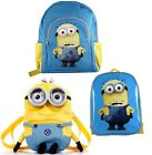NEW OFFICIAL LICENSED DESPICABLE ME 2 CHILDREN'S BACKPACKS SCHOOL BAGS RUCKSACKS