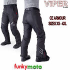 VIPER TEXTILE MOTORCYCLE PANT JEAN TROUSER WATERPROOF CE ARMOURED STREET CORDURA