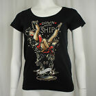 LUCKY 13 Down With The Ship Martini Girl Juniors Scoop Neck T-Shirt S-2XL NEW