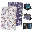 FLOWER BIRD Polka Dot Butterfly leather Media Stand Case, Skin Cover for tablets