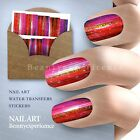 Fashion Nail Decals Full Wraps Water Transfer Stickers Decoration 024