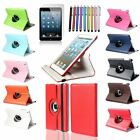 Leather 360 Degree Rotating case for New Apple iPad 5 air standing swivel Folio
