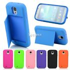Credit Card Hard Shell Stand Case Cover For Samsung Galaxy S4 S 4 IV i9500 DZ88
