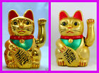 "BNWT 5"" Milano Chinese Feng Shui Golden Waving Fortune/ Lucky Cat best gift"