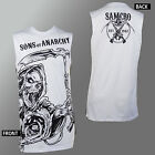 Authentic SONS OF ANARCHY Evil Grim Reaper Muscle Tank Top Shirt S - 2XL NEW