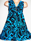 GIRLS BLACK & BLUE ABSTRACT PRINT DIAMONTE TRIM PARTY DRESS
