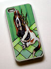 rubber fitted case for i phone 5 iphone 4 4s basset hound art bagpipes dog gift