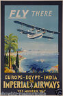 imperial airways vintage print poster, large 4 sizes available, Airline 195