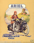 vintage Motorcycle ad print poster, large 4 sizes available-Auto 57